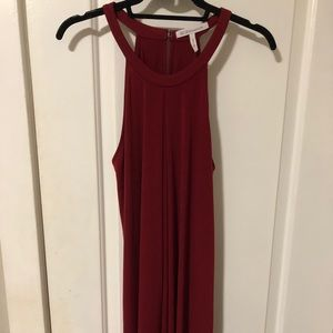BCBG red high neck dress